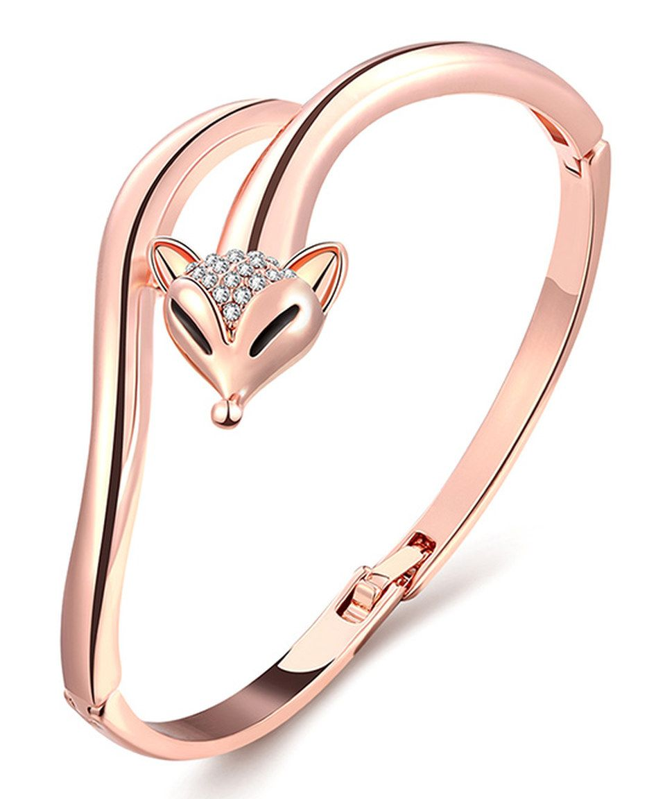 c86eae85d Another great find on #zulily! Swarovski® Crystal & Rose Gold Fox Bangle by  Riakoob #zulilyfinds