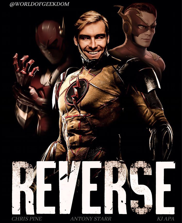 """WORLD OF GEEKDOM บน Instagram: """"Thought it be fun it work up a 'joker' type  movie poster but for reverse flash! Comment an… 