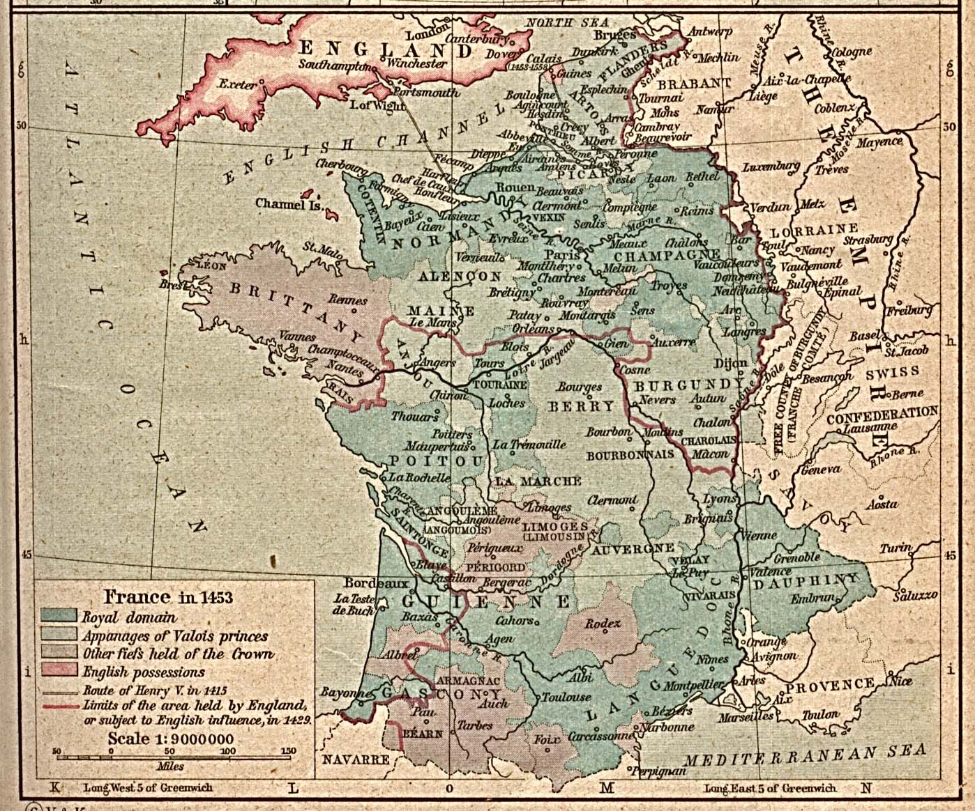 Historical maps map of france france in 1453 from the historical image detail for maps of italy modern maps of italian cities edited 1761 gumiabroncs Choice Image