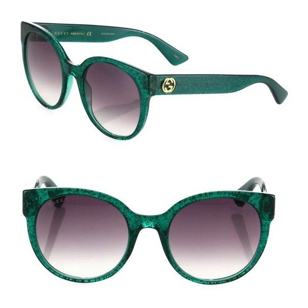 0b085345227 Gucci 54Mm Glitter Cat Eye Sunglasses ( 375) ❤ liked on Polyvore featuring  accessories