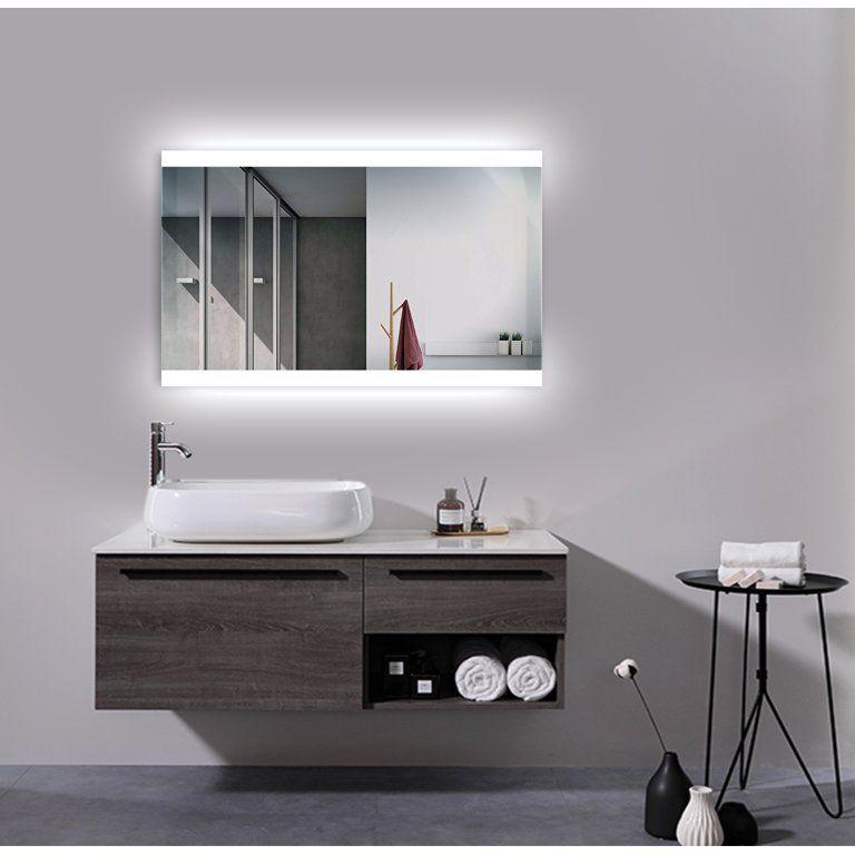 Jet Led Mirror Walmart Com Minimalist Bathroom Design Led Mirror Creative Bathroom Design