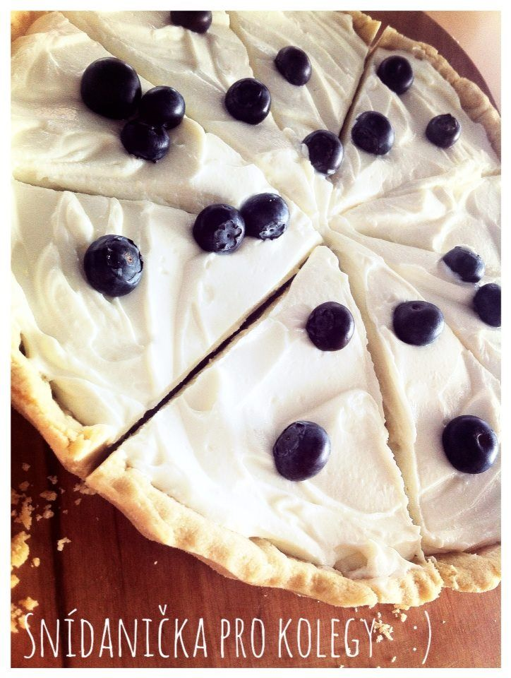 Homemade cheesecake with blueberries for my collegues :) ... for better workday :)