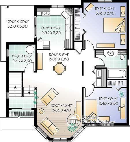 Détail du plan de Maison multi logements W3029 Ev planları - plan de maison design