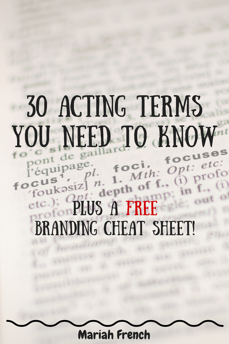 30 Acting Terms You Need to Know for Beginner Film Actors