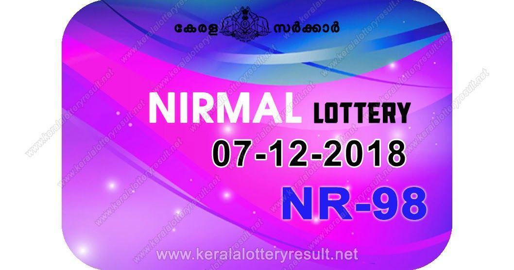 07-12-2018 NIRMAL Lottery NR-98 Results Today - kerala