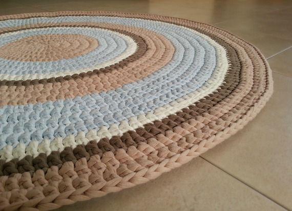 Alfombra trapillo hazlo t misma pinterest crochet - Alfombras ganchillo trapillo ...