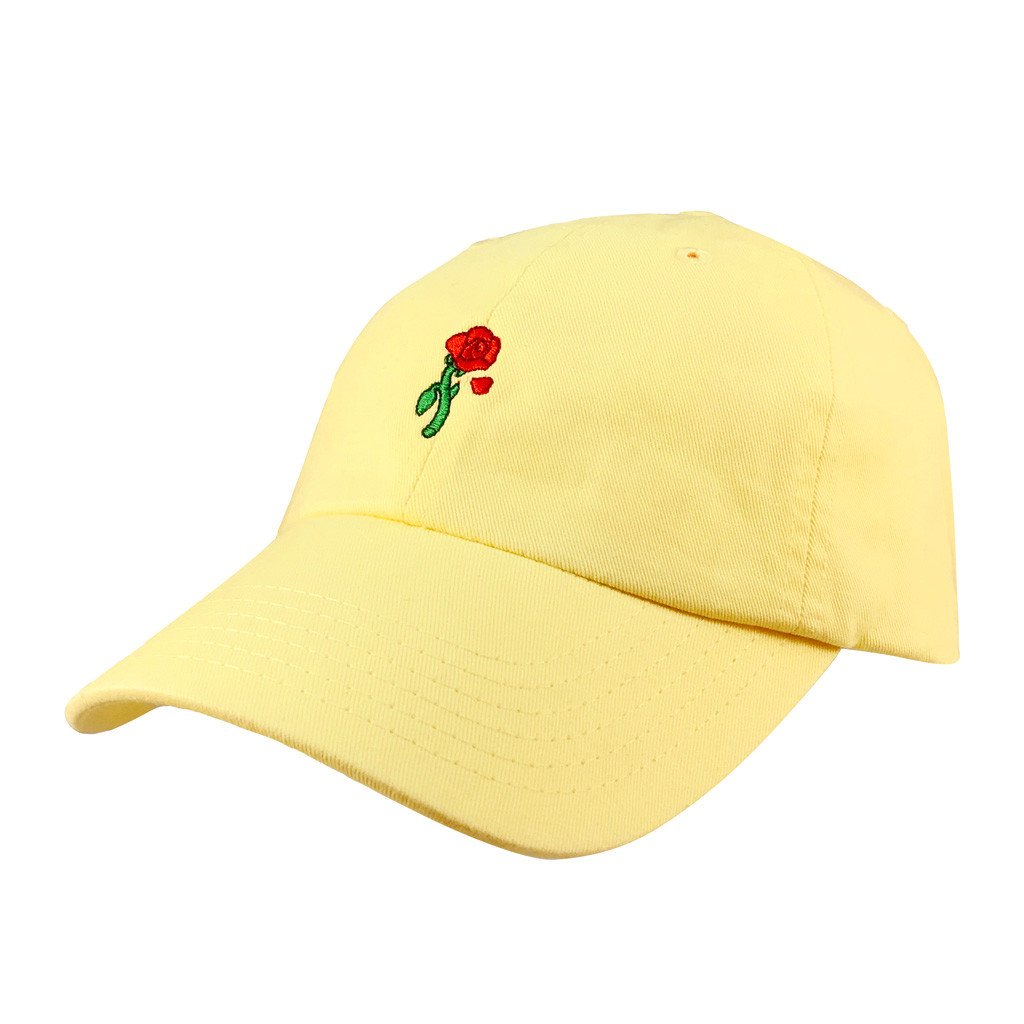 ff9e57a6732 Our 6-panel unstructured Enchanted Rose Dad Hat inspired by Belle is  perfect for your Beauty and the Beast DisneyBound.