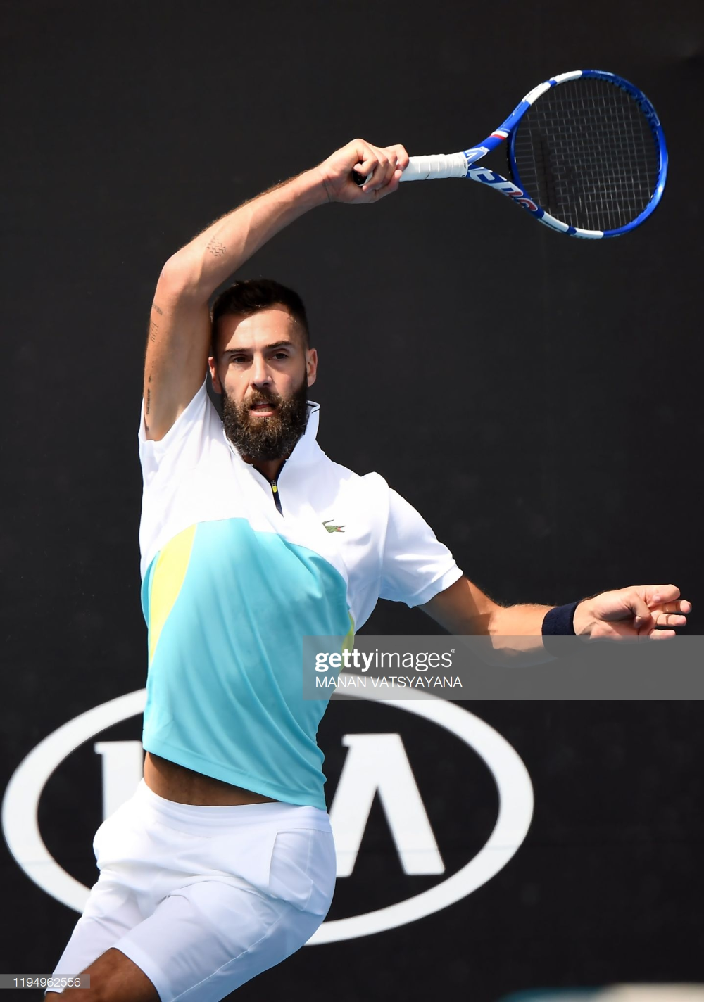 France S Benoit Paire Hits A Return Against Germany S Cedrik Marcel In 2020 Australian Open Tennis Benoit Australian Open
