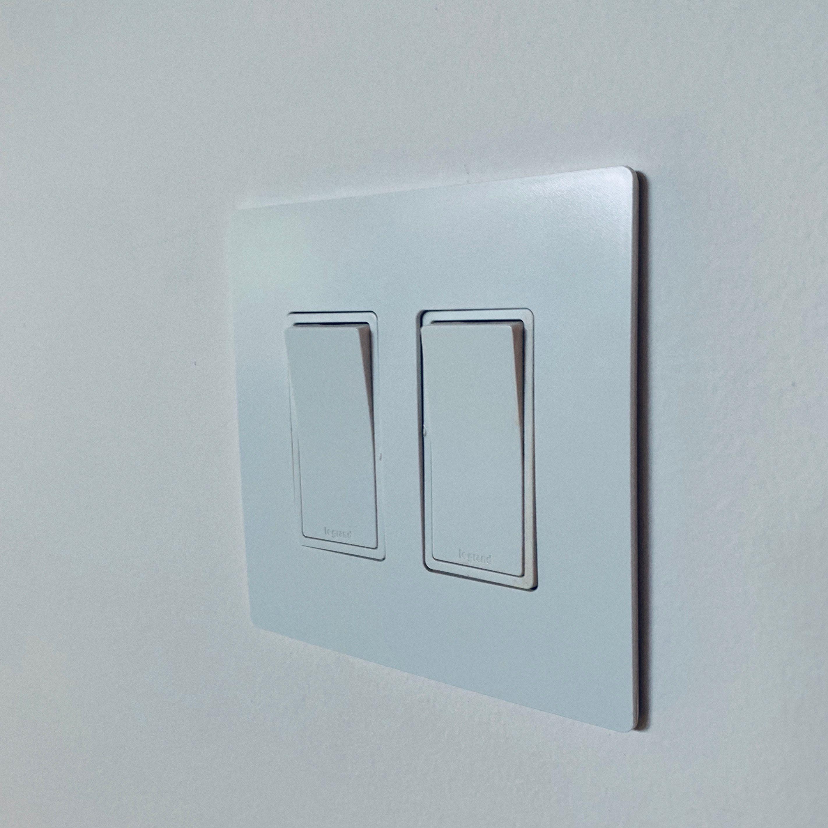Legrand Screwless Wall Plate 2 Gang Switch Custom Home
