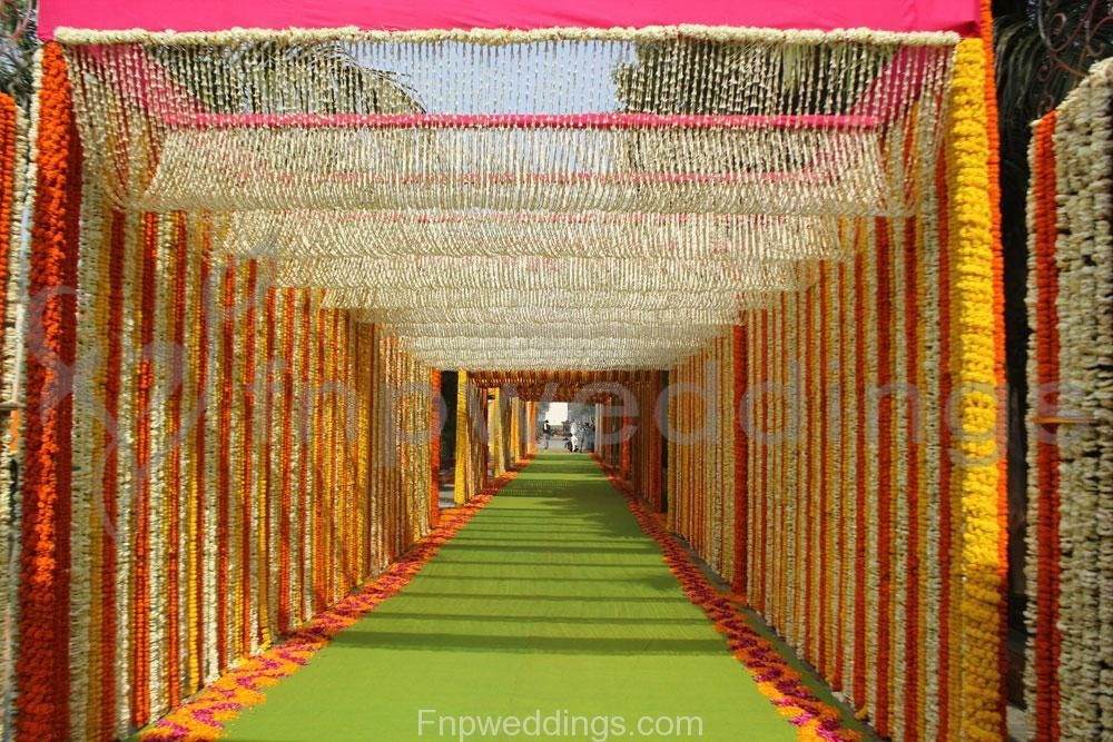 Wedding flower decor wedding stage design idea for Indian engagement decorations at home