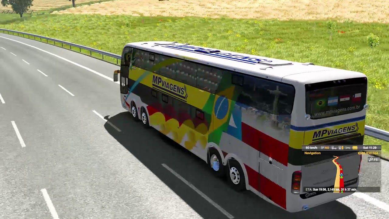 Scania Marcopolo G6 On European Road Dresden to Palermo Euro
