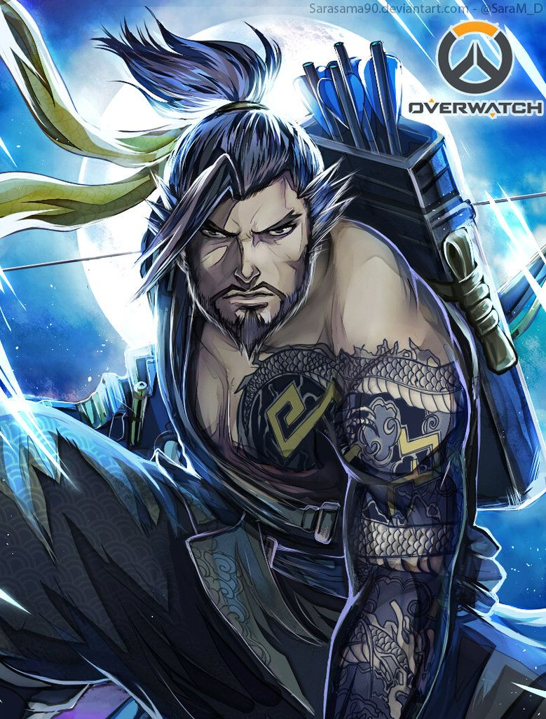 My Fanart Of Hanzo From Overwatch I Really Like His Design