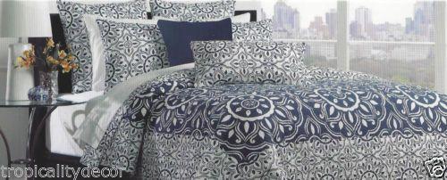 Moroccan Bedding Nautical Bedding Beach House Bedding Indigo Blue