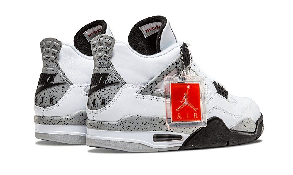 finest selection 9b337 7db10 nike air jordan 4 retro OG mens hi top basketball trainers 840606 sneakers  shoes (uk 6.5 us 7.5 eu 40.5, white fire red black tech grey 192)