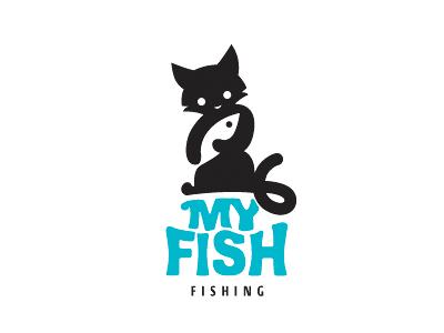 my fish logos logo desing and logos examples rh pinterest com Cat Cartoon Character Logos Cat Logo Caterpillar Symbol