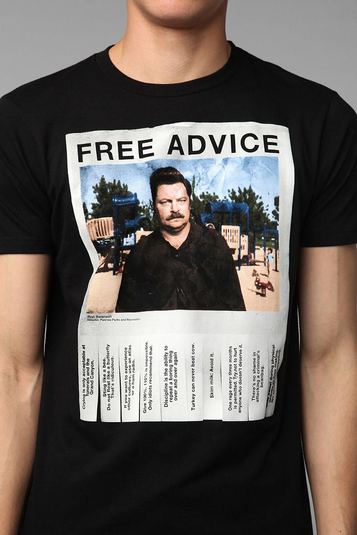 2dc90f25 Ron Swanson Free Advice Tee | Laugh It Up | Urban outfitters, Ron ...