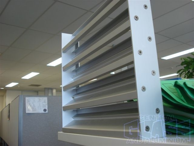 Capral extruded Z louvres ideal for amenities blocks - used them loads across schools plants room doors etc. & Capral 50mm extruded Z louvres ideal for amenities blocks - used ...