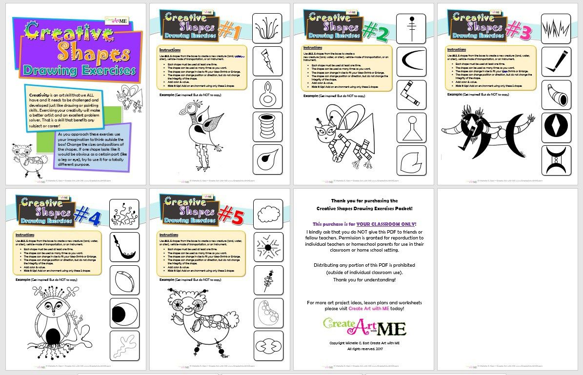 Creative Shapes Drawing Exercises Volume 1