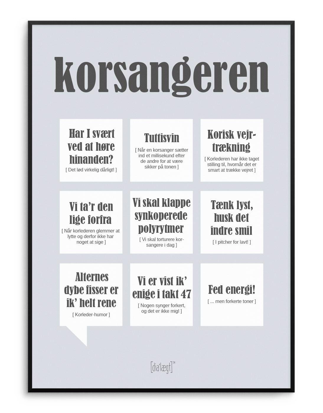 Korsangeren Plakat Kob Online I 2020 Med Billeder Sjove Citater Plakater Citater