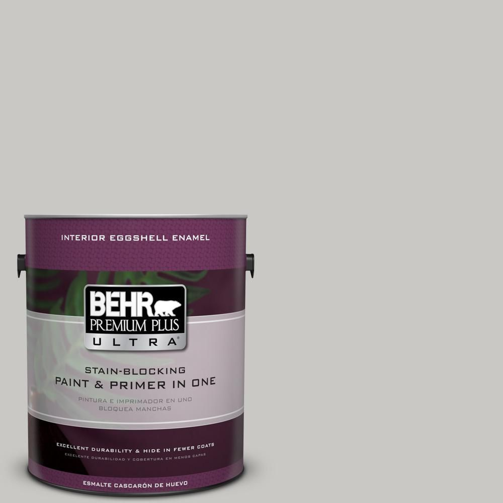 Behr Ultra 1 Gal Mq2 59 Silver City Eggshell Enamel Interior Paint And Primer In One 275001 The Home Depot In 2020 Interior Paint Flat Interior White Interior Paint