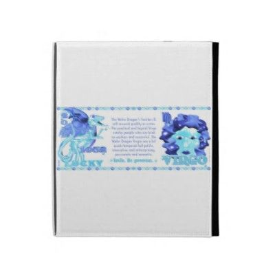 Valxart 2012 2072 1952 WaterDragon zodiac Virgo iPad Cases