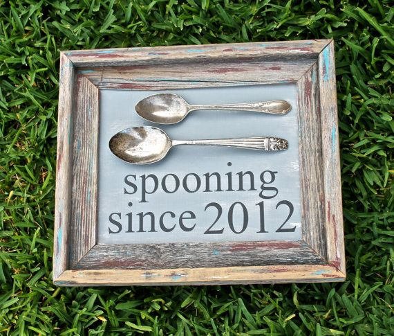 Couples Gift Ideas For Home: Rustic Wooden Spooning Since Frame Makes Great By