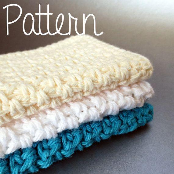 Crochet Pattern Simple Cotton Dishcloth with Decrease Single Crochet ...