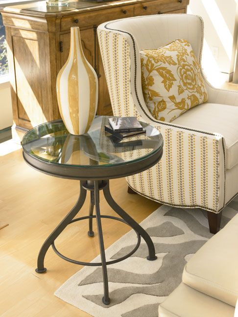 Reinventions Pulley Side Table and Marquis Chair