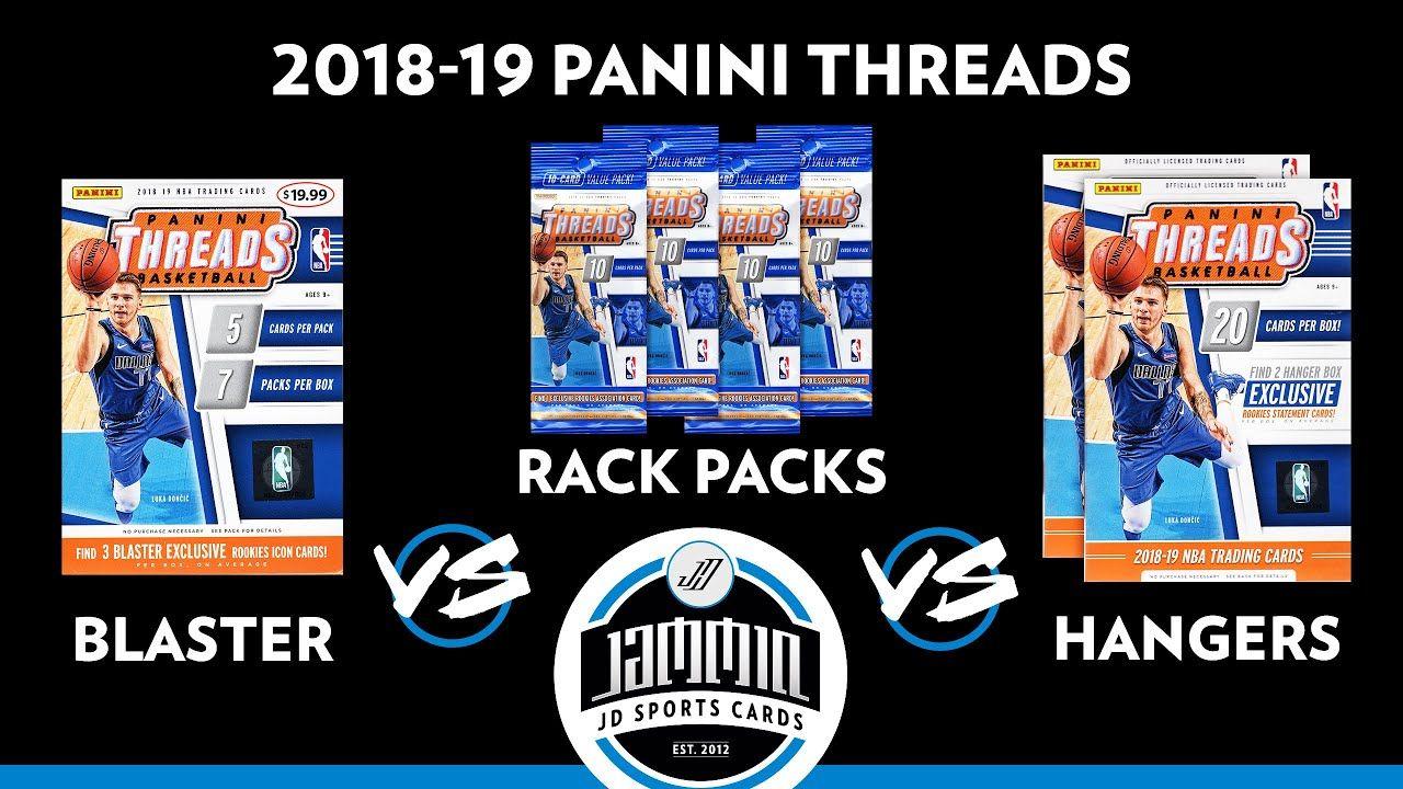 201819 panini threads retail versus break blaster box