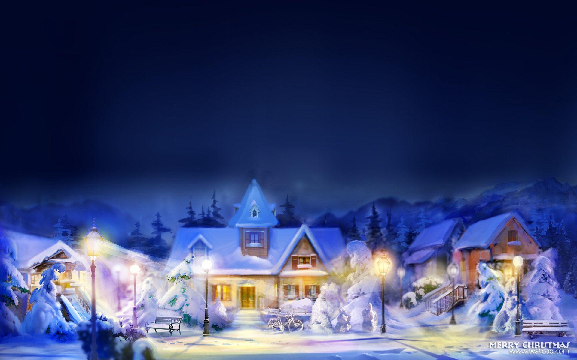 christmas house | hd widescreen christmas art : christmas design and