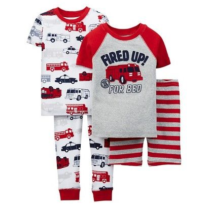 3bfc1d263 Just One You™ Made by Carter s® Toddler Boys  Fire Truck Pajamas ...