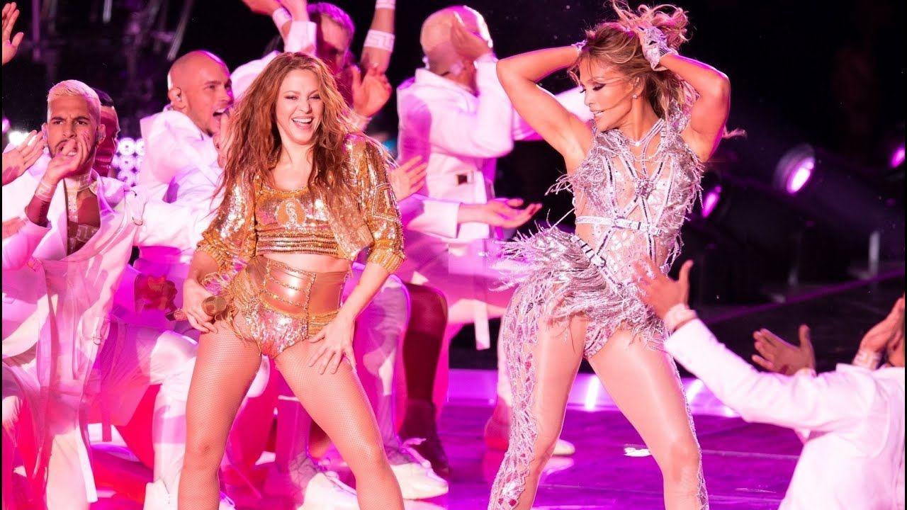 J Lo Shakira 4k Super Bowl Liv Halftime Full Hd Audio Show Behin Shakira Jlo Hollywood Girls