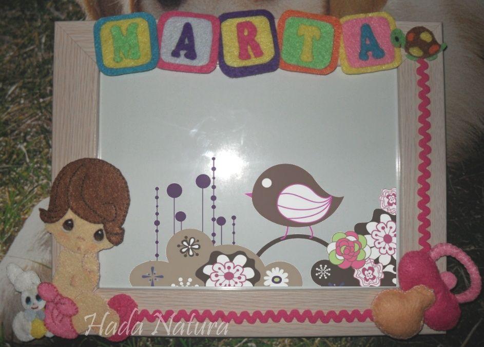Si tienes que hacer un regalo para un bebé, este marco decorado ...