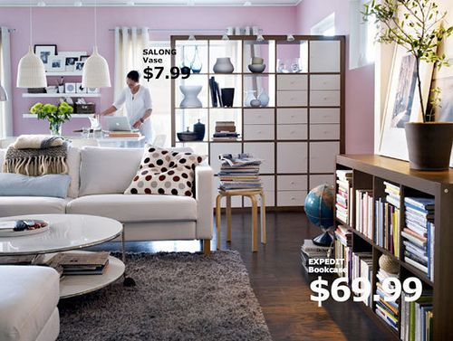 ikea expedit as room divider by ernmcc, via Flickr