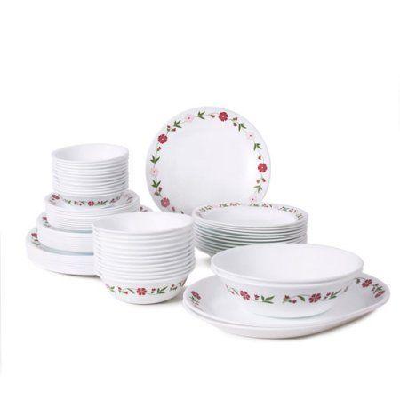 Corelle Livingware 76-Piece Dinnerware Set - Walmart.com  sc 1 st  Pinterest & Corelle Livingware 76-Piece Dinnerware Set White | Dinnerware ...