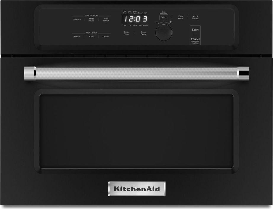 Kitchenaid 24 black built in microwave oven kmbs104ebl