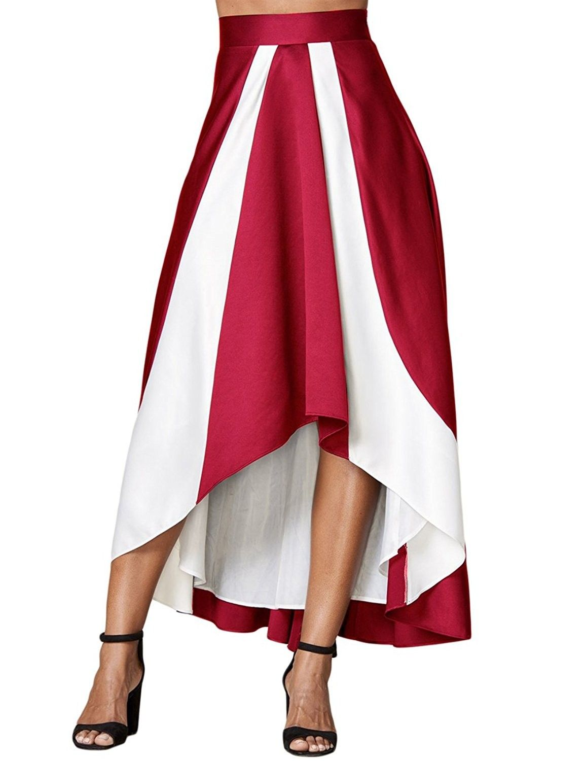 ae85b13d08 Women's Clothing, Skirts,Women's Plus Size A Line Party Maxi Skirt High  Waist High Low Pleated Skirts - Burgundy - C2187SOMWY6 #Fashion #Skirts # women ...