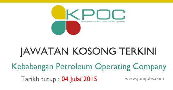 Jobs Kebabangan Petroleum Operating Company Kpoc July 2015 School Logos Tech Logos Oil And Gas