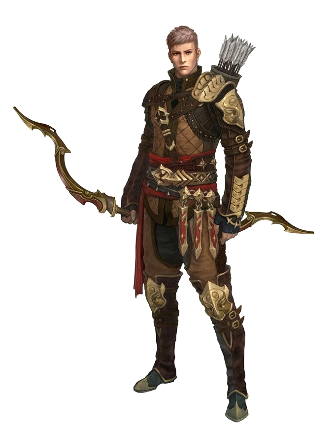 Male Human Fighter Archer - Pathfinder PFRPG DND D&D 3.5 ...