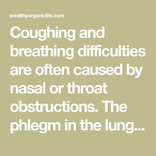 Coughing and breathing difficulties are often caused by ...