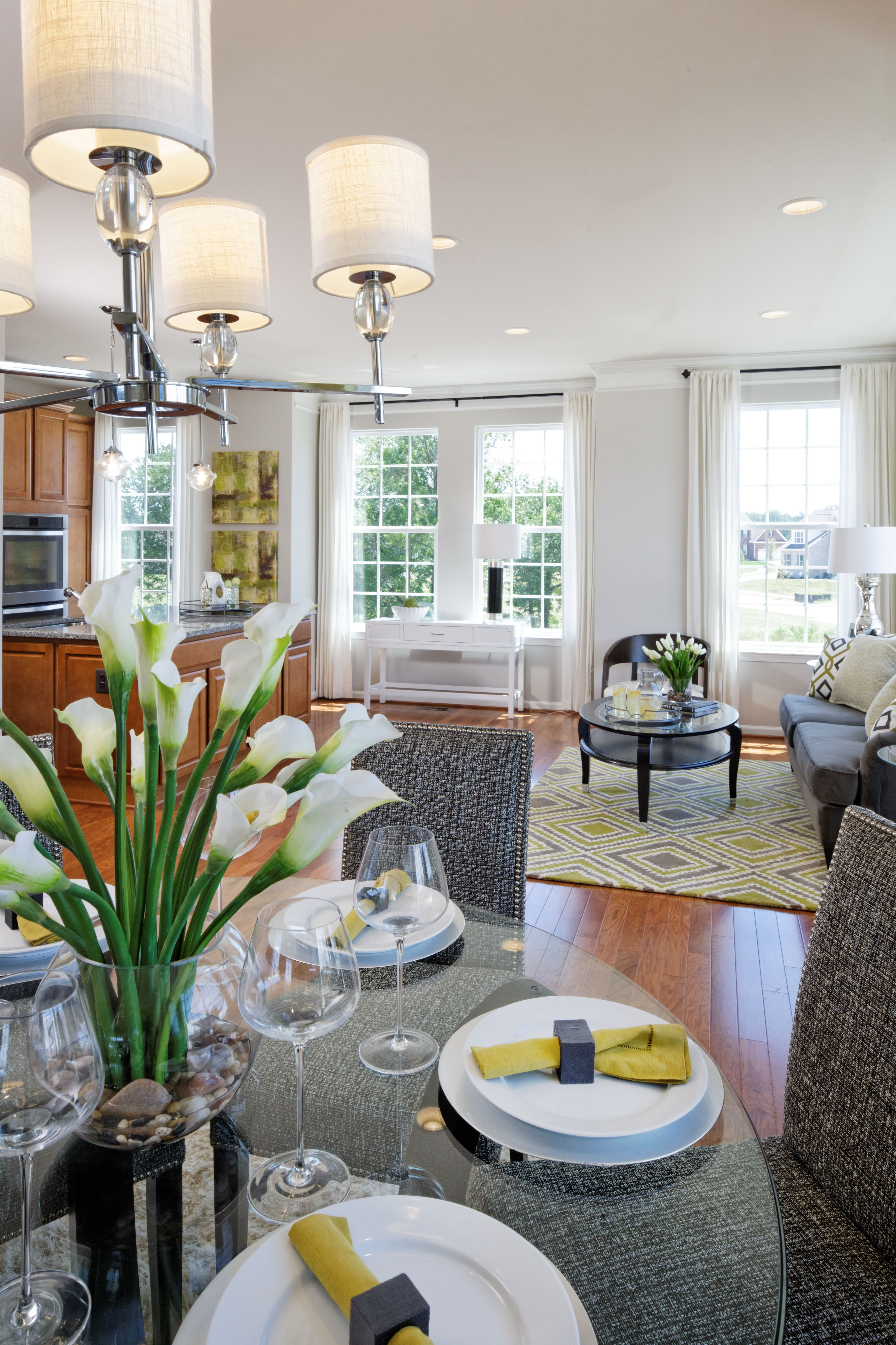 The Grove by MidAtlantic Builders. Open concept Dining
