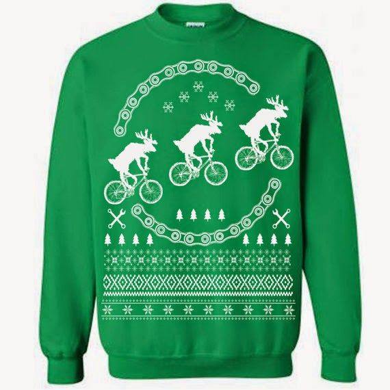 ugly christmas sweater for cyclists pity the poor reindeer
