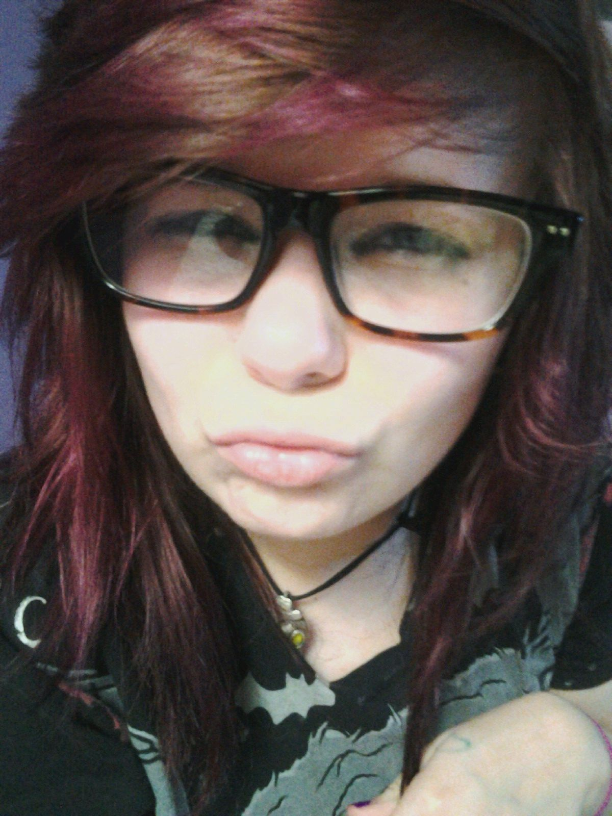 There was like purple, black, pink, and brown going on :P