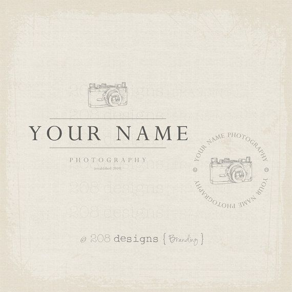 Premade Logo and Watermark - Photography - Vintage Camera Logo AND - photography copyright release form