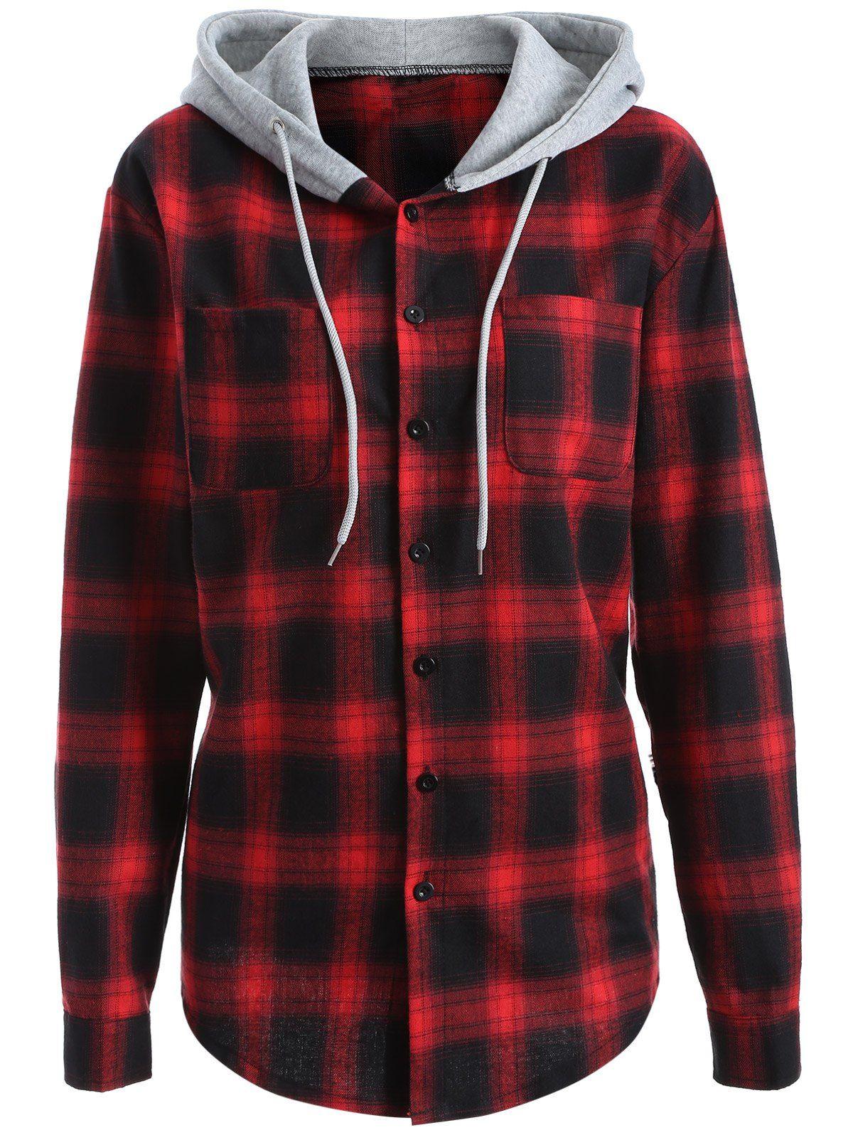 Plaid Flannel Hoodie Shirts Flannel Hoodie Flannel Jacket Women S [ 1596 x 1200 Pixel ]