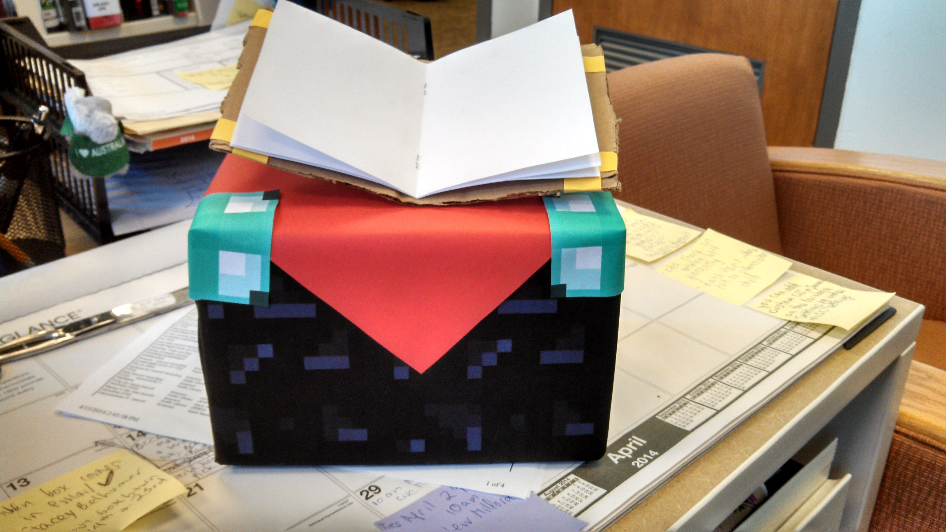 Diy Enchanting Table From The Video Game Minecraft Using A