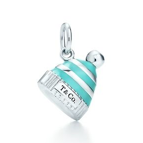 Tiffany - Charms -web-may. 2013,USD 175, Snow hat charm in sterling silver with Tiffany Blue® enamel finish.
