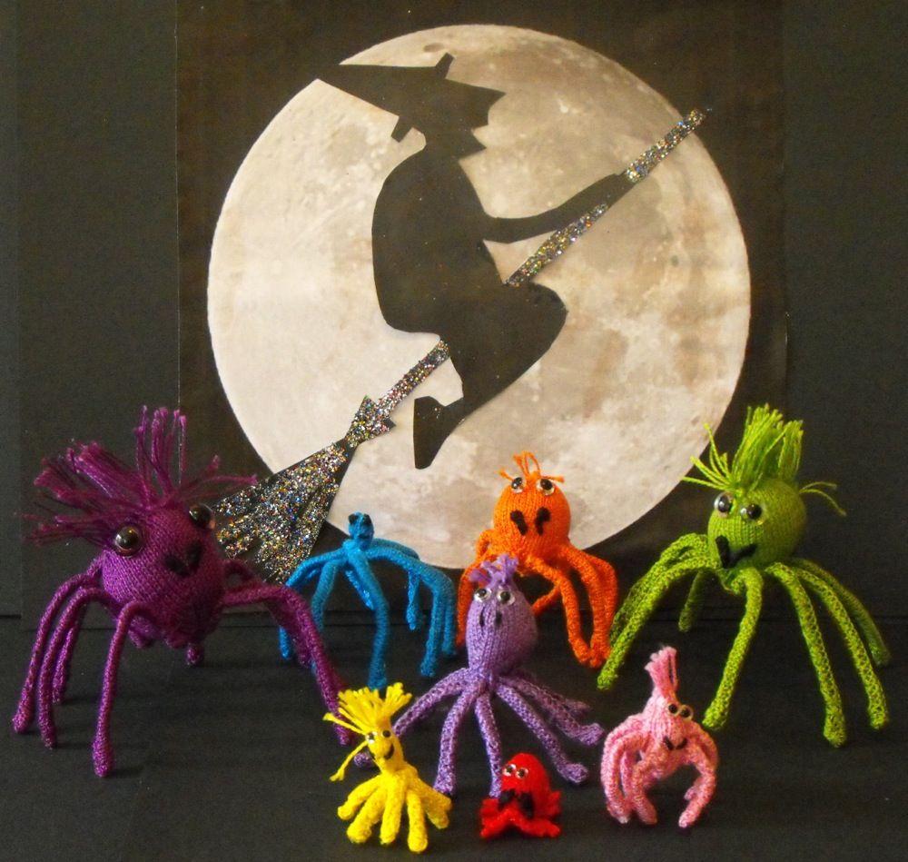 Halloween Spider Family: #free #knit #knitting #pattern #halloween ...