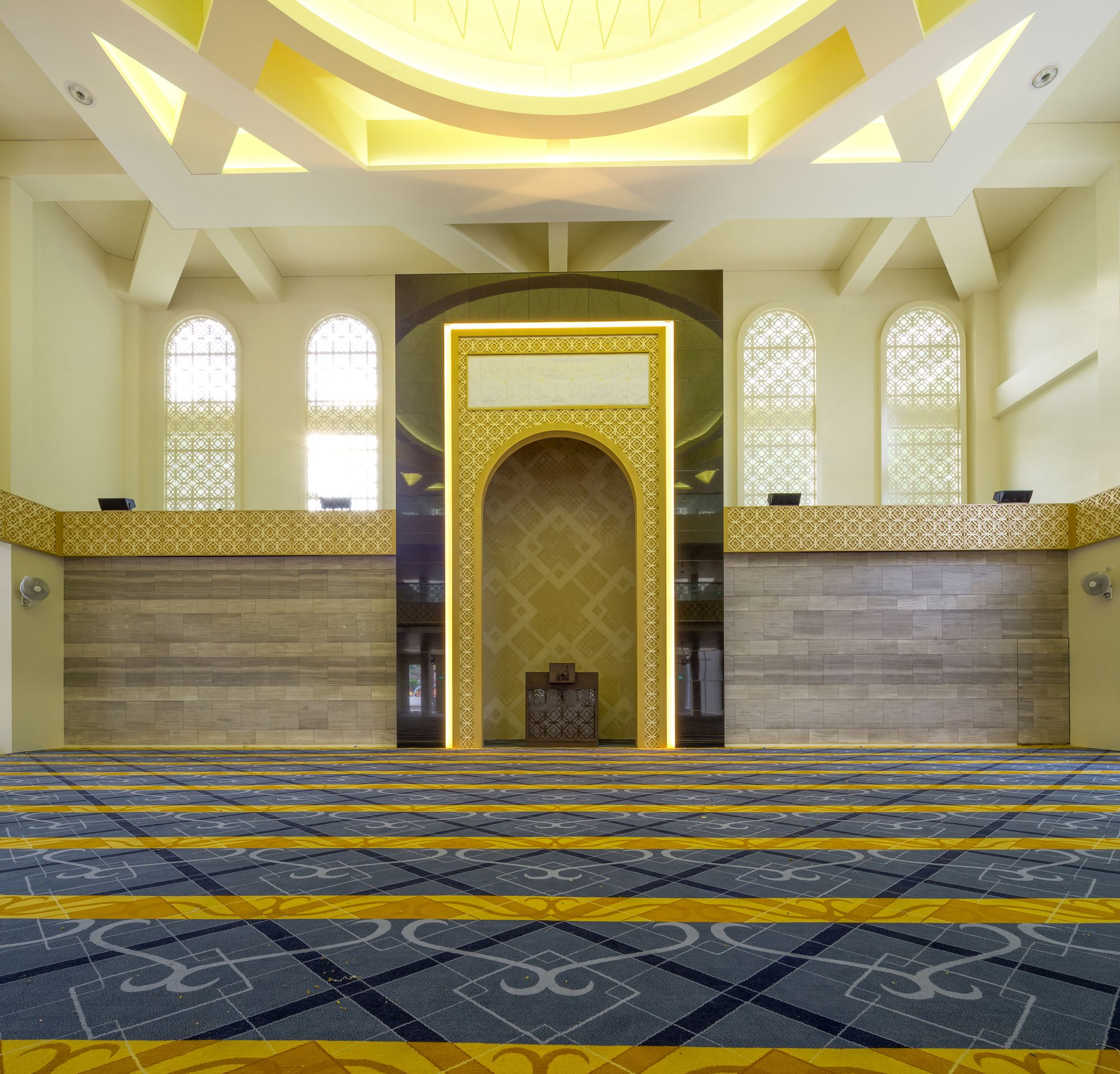 Pin By Adil Taj On Ceiling In 2019: Gallery Of Al-Ansar Mosque / ONG&ONG Pte Ltd