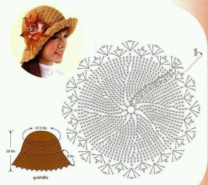 Gorro playero cafecito.. | crochet | Pinterest | Café, Moda de playa ...